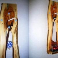 お客様の作品 一位(イチイ)変木一枚板の掛け時計~神奈川県加藤様~