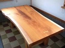 欅一枚板厚盤テーブル