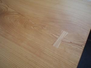 欅一枚板広幅厚盤テーブル完成20140109-2