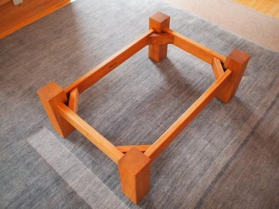 欅一枚板玉杢盤座卓7