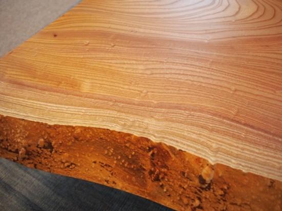 欅一枚板玉杢盤座卓4