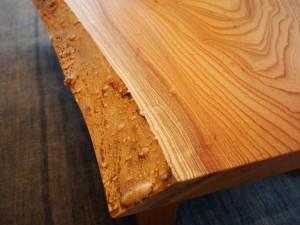 欅一枚板玉杢盤座卓5