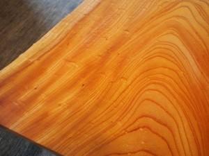 欅一枚板玉杢盤座卓6