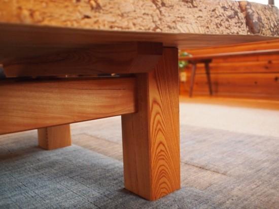 欅一枚板玉杢盤座卓9