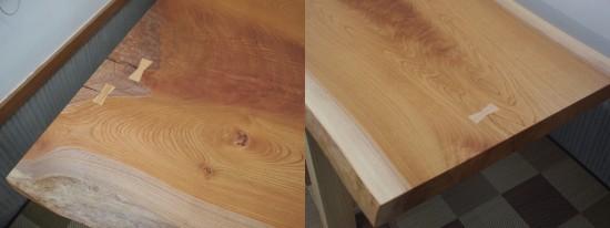 欅一枚板テーブル天板完成20140212-3