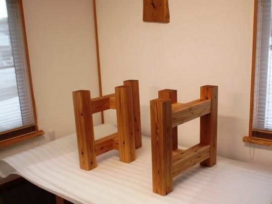 tokkoya-kagu杉テーブル・座卓兼用脚