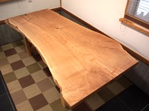 栗超広幅一枚板テーブル(杉兼用脚)