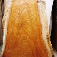 欅一枚板玉杢盤座卓(総欅造り)の製作を開始しました