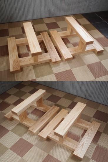ホワイトアッシュテーブル・座卓兼用脚-2