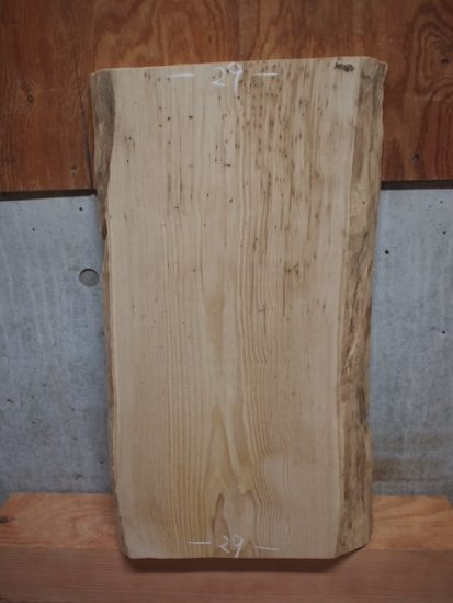 栗一枚板厚盤のご注文~木彫り仮面の素材~20180115