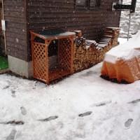 大雨が雪に(+o+)