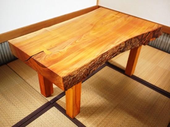 欅一枚板小座卓3