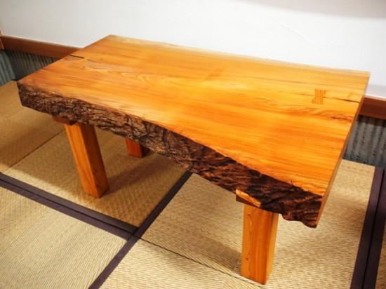 欅一枚板小座卓4