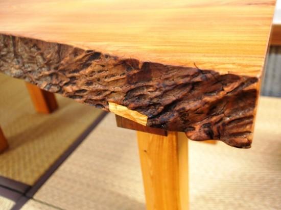 欅一枚板小座卓5