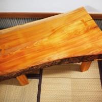 欅一枚板小座卓が完成しました