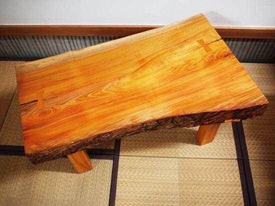 欅一枚板小座卓1