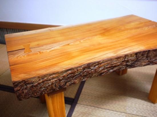 欅一枚板小座卓2