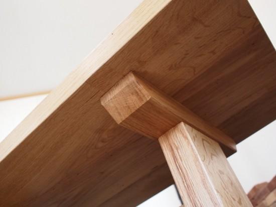 ナラダイニングテーブルとティーテーブル8