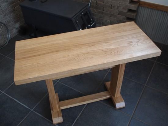 ナラダイニングテーブルとティーテーブル2
