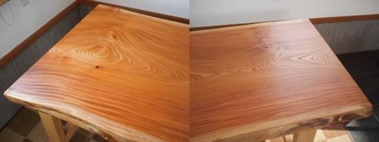 欅老木一枚板座卓完成20150418-2