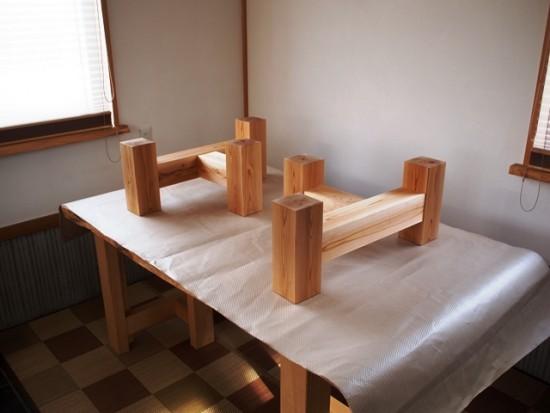欅老木一枚板座卓完成20150418-3