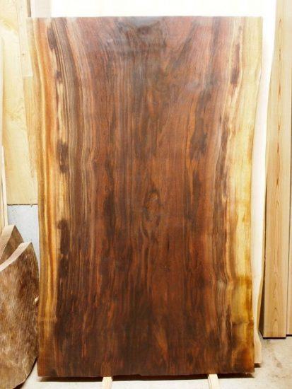 お買い上げ頂いたブラックウォルナット一枚板天板素材20160825