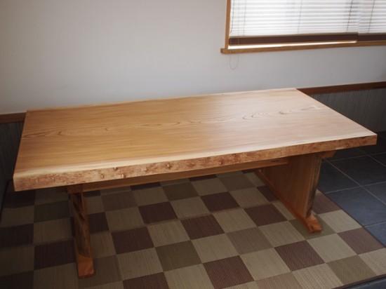総欅造り一枚板ダイニングテーブル7