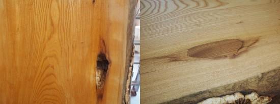 欅一枚板良杢盤座卓-2