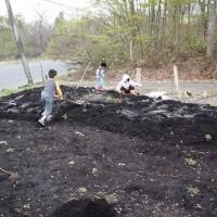 畑の土起こし2012