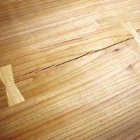 今日の作業20140512~巨大欅一枚板の埋め木加工~