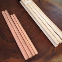 太鼓のバチを製作しました~銘木丸棒オーダー製作~