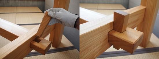 欅巨大一枚板テーブル脚、完成20140524-5