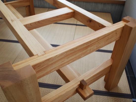欅巨大一枚板テーブル脚、完成20140524-7