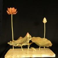 お客様の作品 彫刻「蓮」