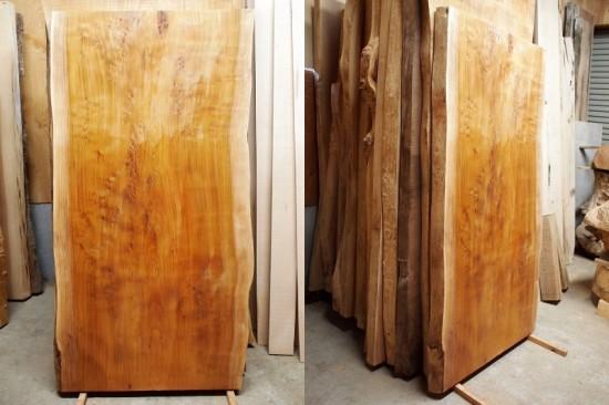 欅極上杢一枚板テーブル天板製作開始20150515