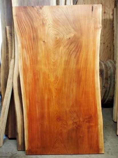長野県高洲様欅老木一枚板座卓オーダー製作20150120