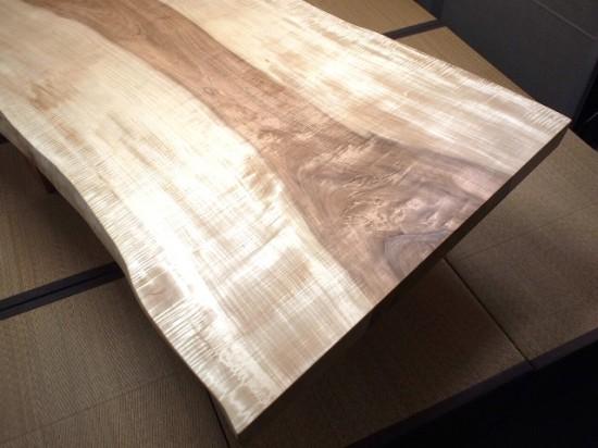 栃一枚板天板完成20140605-4
