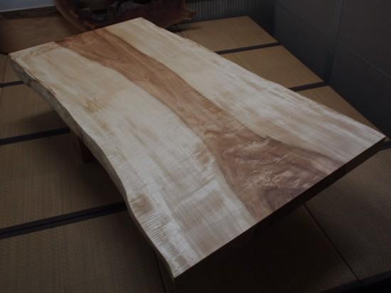 栃一枚板天板完成20140605-1