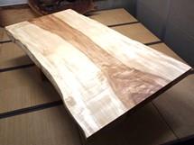 栃縮杢一枚板テーブル(天板加工のみ)