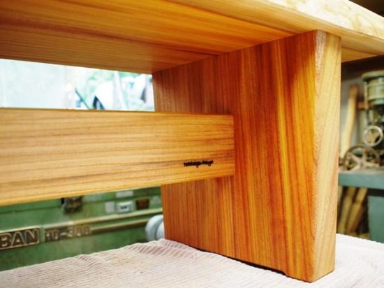 欅一枚板ベンチ6