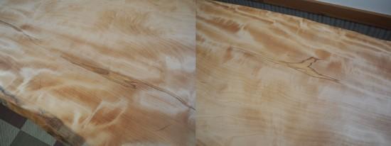 栃一枚板テーブル(テーブル・座卓兼用脚)完成20140618-6
