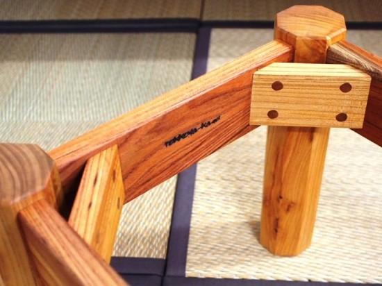 胡桃輪切りのティーテーブル5