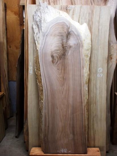 胡桃一枚板のベンチ素材を出荷20141028-2