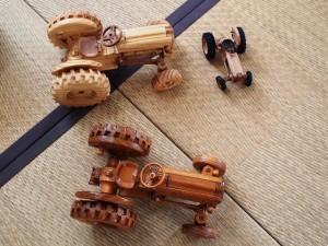 欅造り木のプラモデルトラクターFORD871 1/12モデル-3
