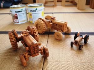 欅造り木のプラモデルトラクターFORD871 1/12モデル-2