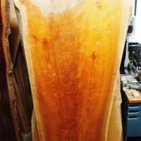長野県山ノ内町・山本様の欅一枚板テーブルの製作に入りました20140203