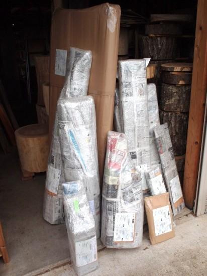 今日の作業場20120723 梱包10個・290kg
