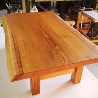 欅極上杢一枚板リビングテーブル、完成!20150730