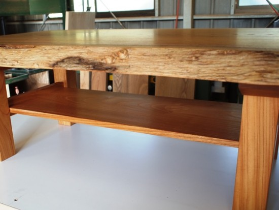 欅極上杢一枚板リビングテーブル・完成!-4