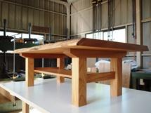 栃極上杢一枚板リビングテーブル